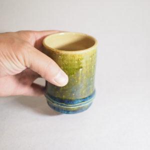 竹モチーフ陶器のフリーカップの画像